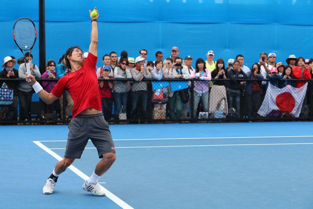 Kei Nishikori Photos: 2015 Australian Open - Day 9