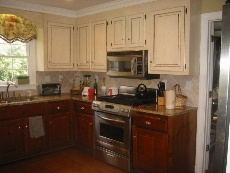 Kitchen Two Tone Kitchen Cabinets Captivating Two Tone