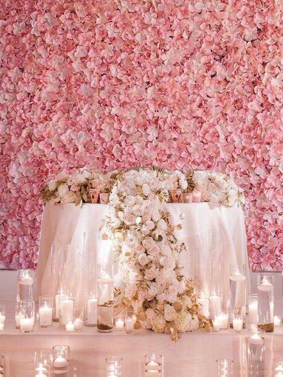 Pink Ivory Flower Wall Pink Panels Hydrangeas Artificial Flower Wall Wedding Decorations Fake Flower Greenery Flower Square Pink Wholesale is part of Wedding decor Wall - order Each Panel Size  24 inches  x 17 inches  x 2 5 inches  Material  Silk Hydrangea Flowers attached to the Plastic Grid Frame White Beads In The Middle Of The Flowers Uses  Table Decoration, Wedding, Party, Event, Banquet, Centerpieces, Vases, Stage Decoration Note If you are attaching more than two or three together, please use floral wire or something similar to adhere the flower walls together