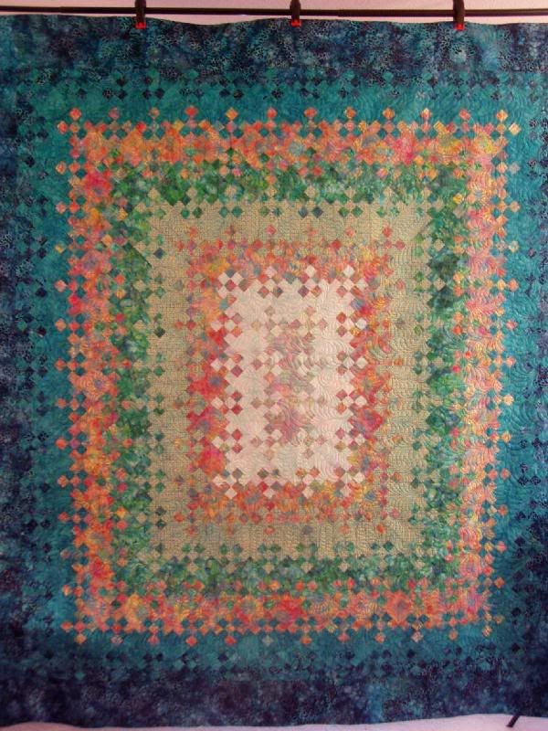 Sally S Batik Blooming Nine Patch By Diane S Quilting