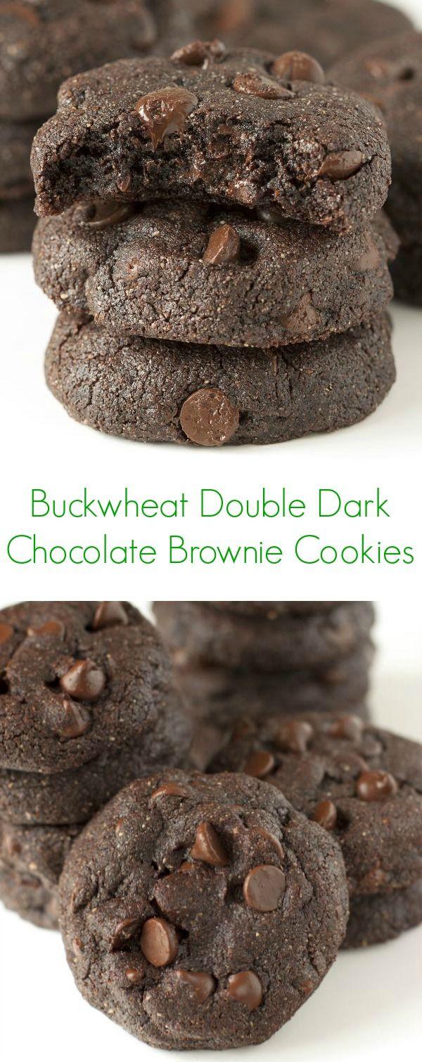 Buckwheat Double Dark Chocolate Brownie Cookies