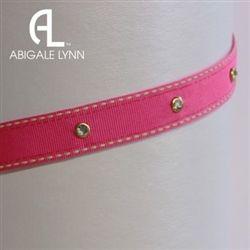 Fuchsia Saddlestitch Interchangeable Visor Band by Abigale Lynn