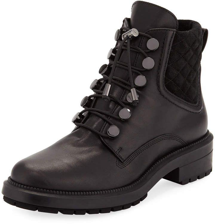 Aquatalia Linda Leather Combat Boot Bayan Ayakkabi Bot Kadin Ayakkabilari