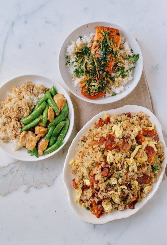 A Week Of Easy Stir Fried Dinners Served With Rice