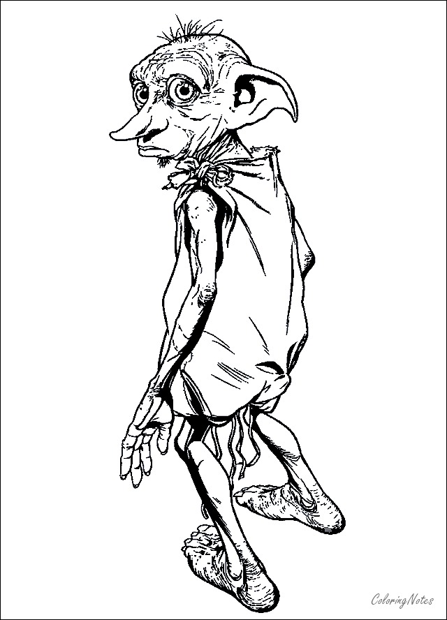 Harry Potter Coloring Pages Dobby Free Printable Harry Potter Coloring Pages Harry Potter Colors Harry Potter Coloring Book