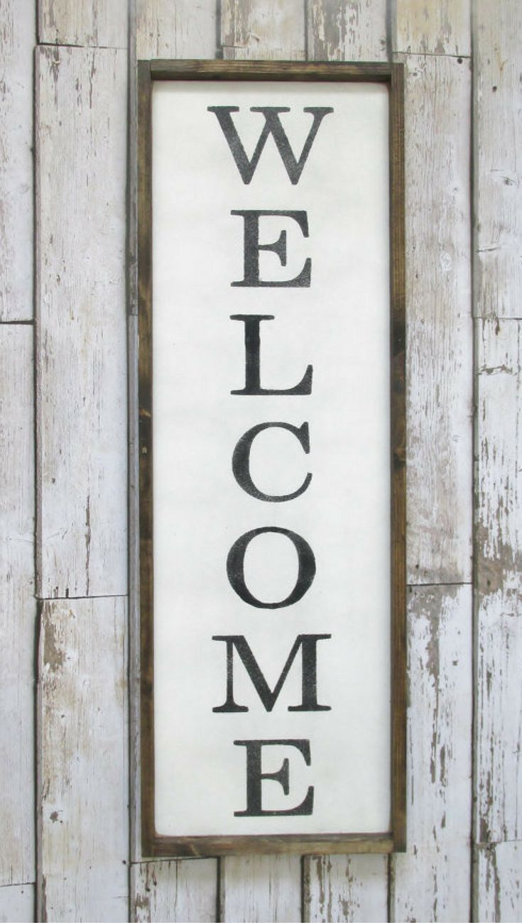 Welcome Wood Sign. Farmhouse Decor. Outdoor Sign. Welcome Sign ...