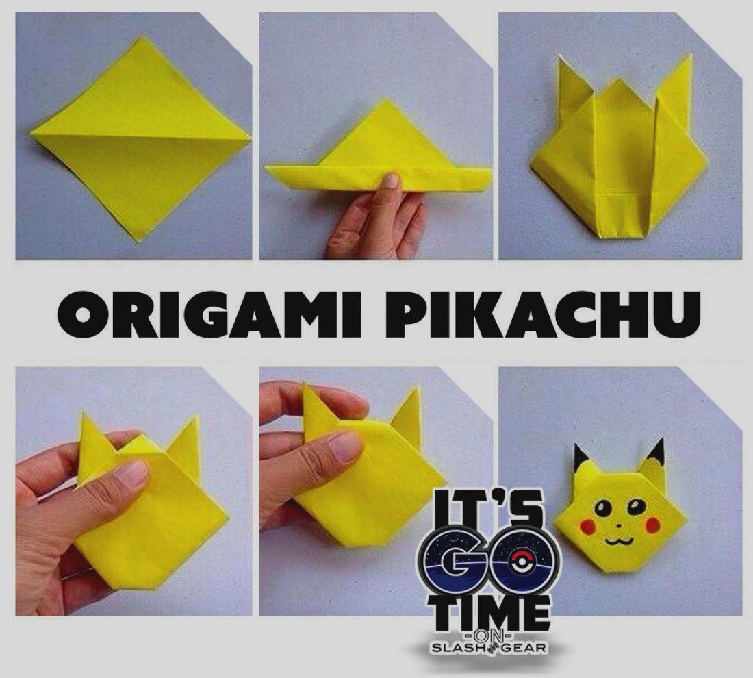 2 Pikachu Origami Diagrams - Paper Kawaii | 990x1100