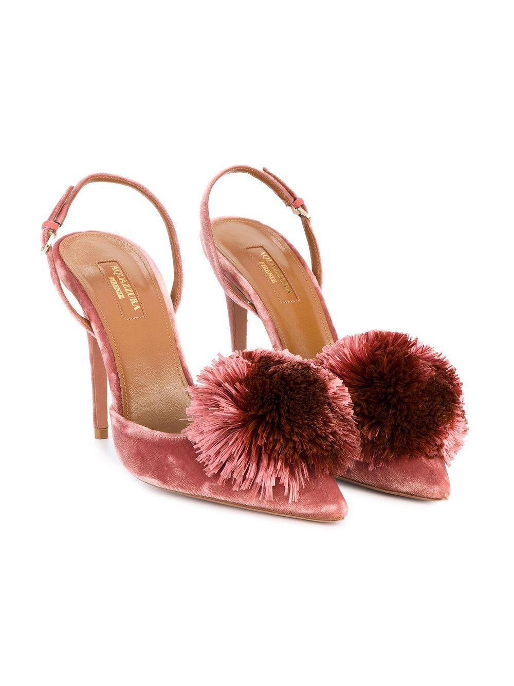 23076e0057b Aquazzura Powder Puff slingback heels
