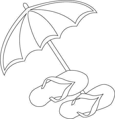 Sombrilla Patrones Playa Dibujo Dibujos Para Bordar