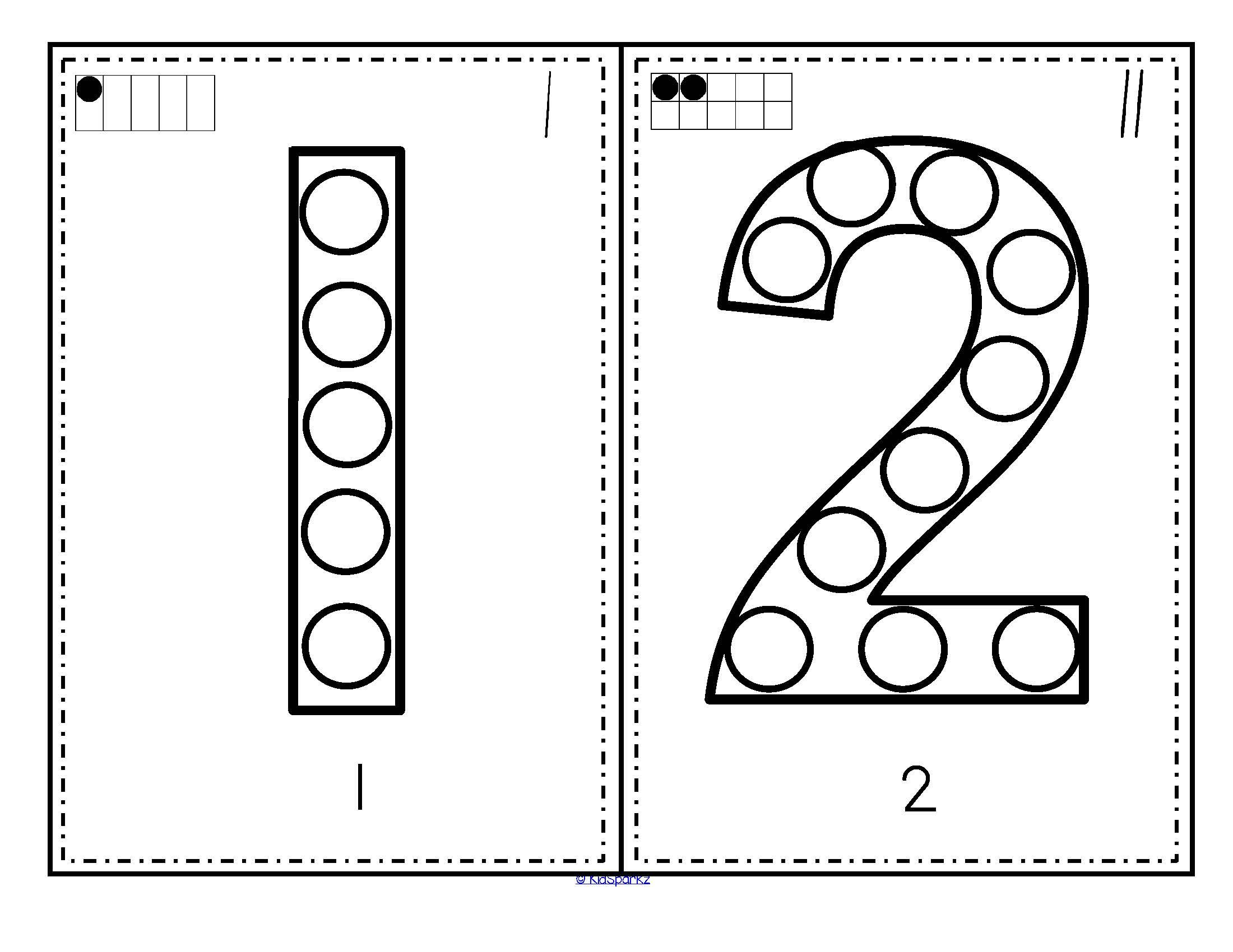 Numbers Bingo Dot Markers 0 20 Fine Motor And Counting