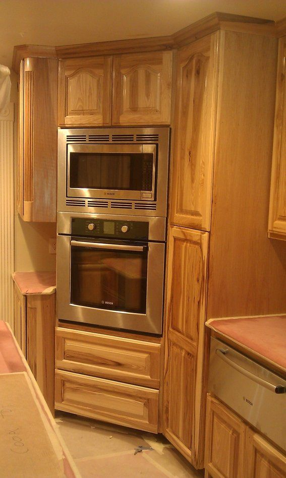 Cool Kitchen Cabnits Hickery Hand Made Hickory Kitchen Custom Beutiful Home Inspiration Ommitmahrainfo