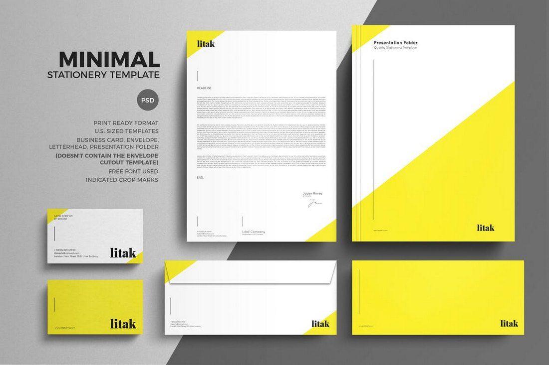 80 Modern Stationery Templates Letterhead Design Minimal Stationery Stationery Design