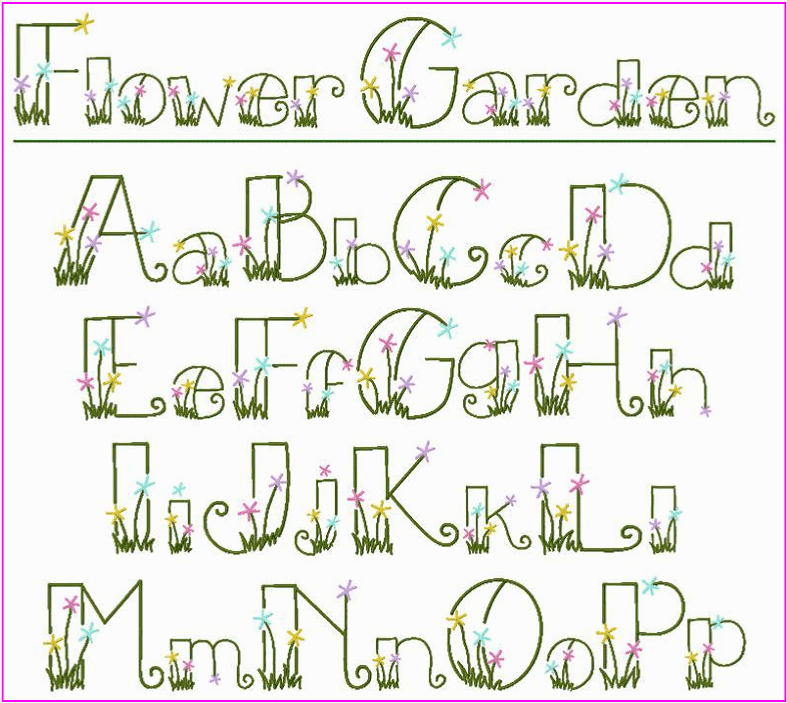 Letters Garden: Flower Garden Font ! ! ! What A Fun, Pretty Font This Is