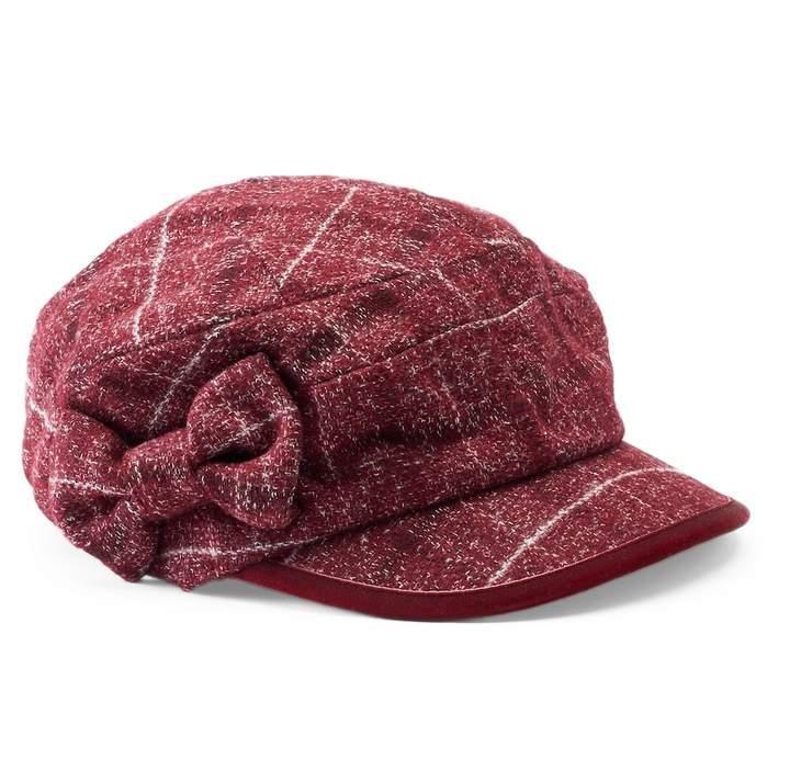 ae0f656807a88 Betmar Women s Mulhouse Plaid Bow Cadet Hat