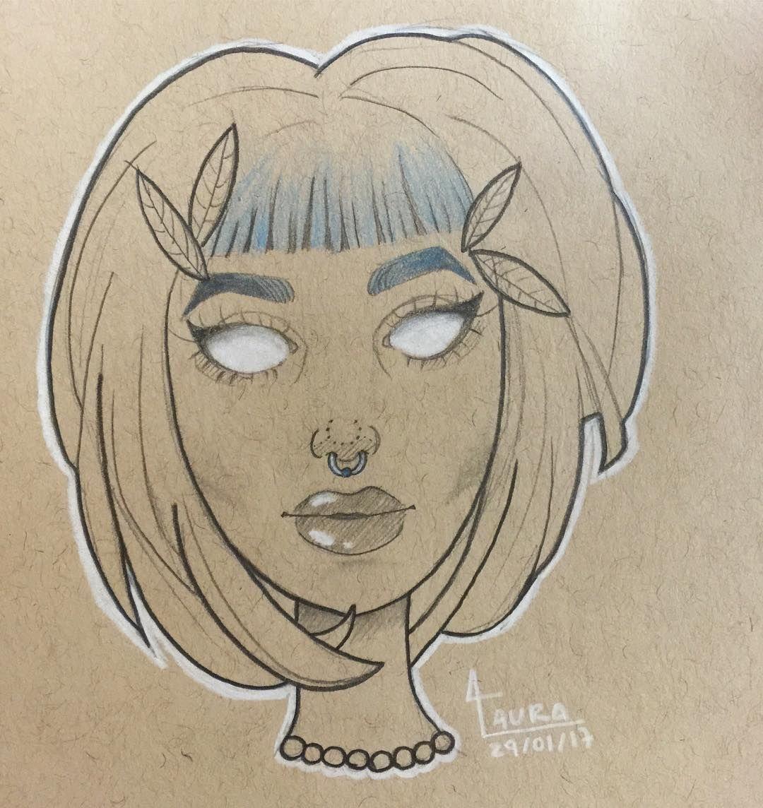 Sketch, girl, ilustration, ilustração