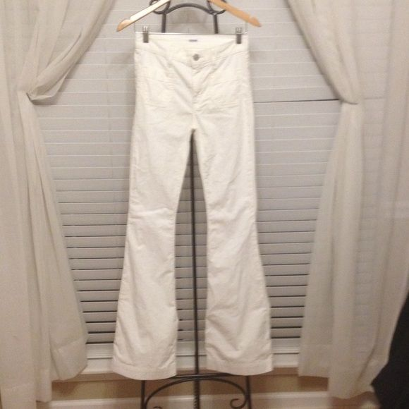 White corduroy Hudson Pants White Hudson jeans. Hudson Jeans Pants Boot Cut & Flare