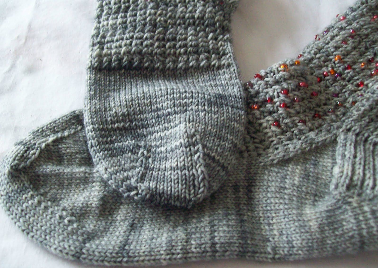 So the Garnets in Granite socks are done—finished up in the last hours, of the last day, of April.  (And likely to remain in the  to be  adm...