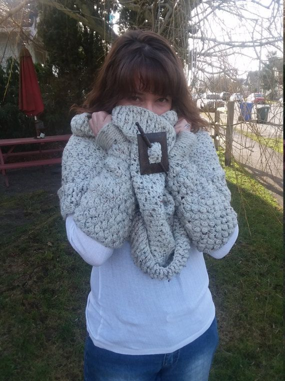 Handmade Crochet Cowl Katniss Style Cowl Hunger by LadyLynelle