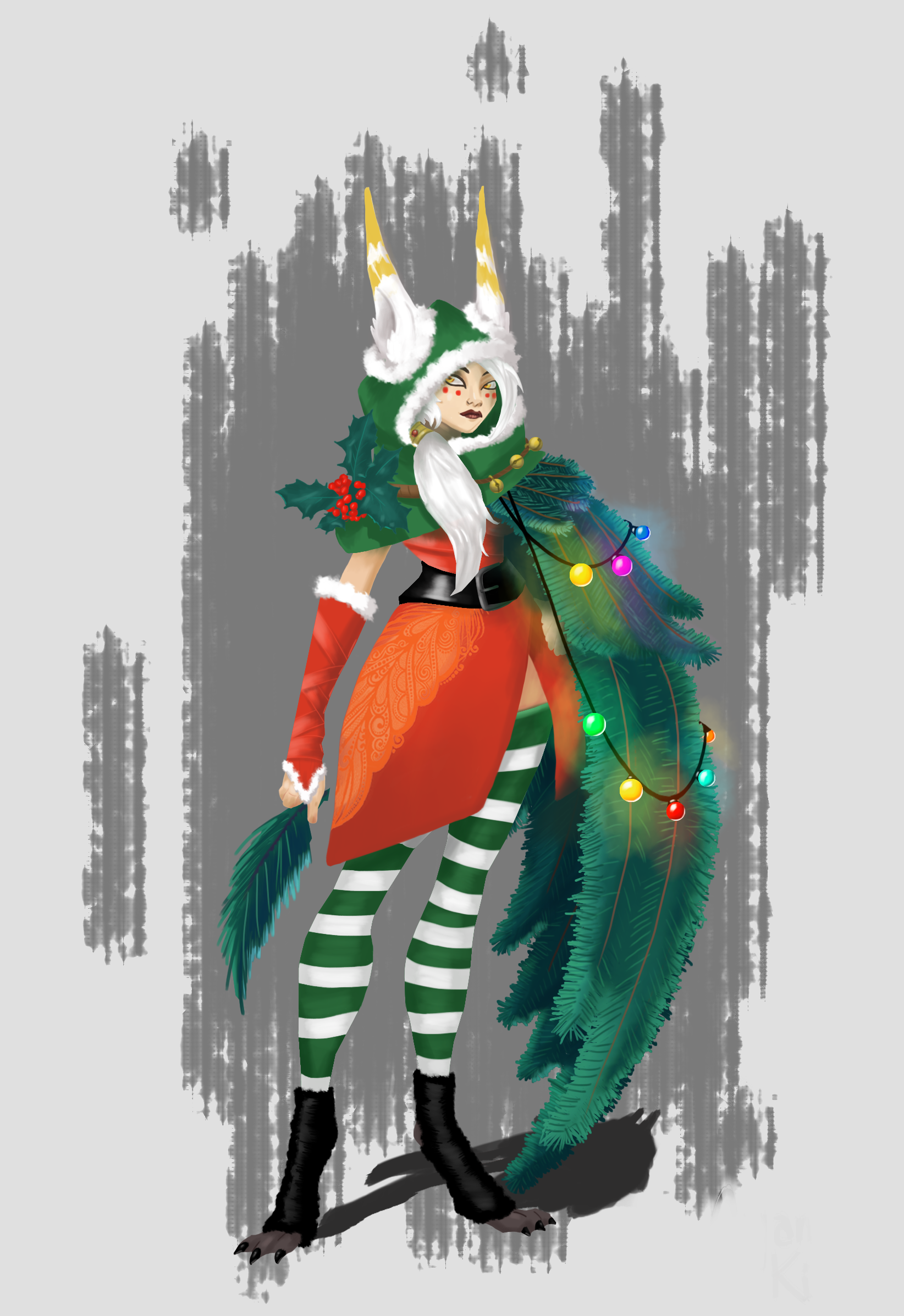 Christmas Xayah by veryonepiece