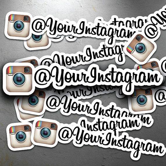 FULL COLOR Custom Instagram Id Username Decals  Identical Vinyl - Custom vinyl decals bulk