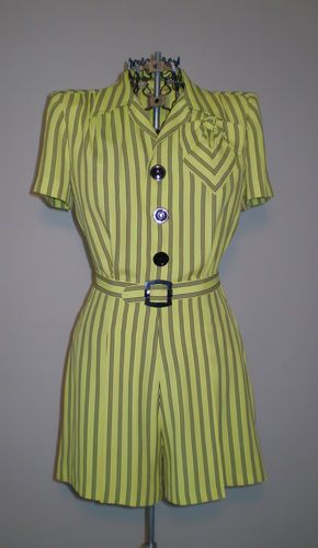Fab Vintage 1940s Hollywood Starlet Victory Girl Pin Up Romper Jumpsuit Amazing | eBay