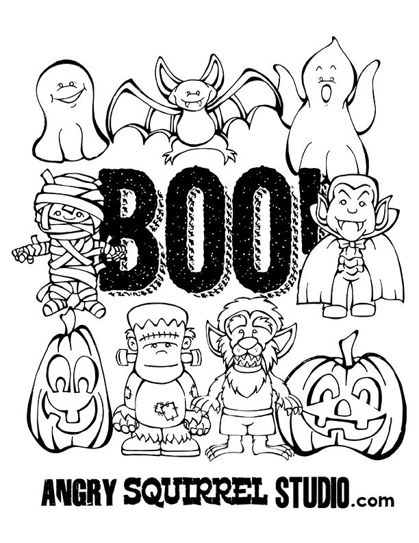 Free Halloween Coloring Page | HALLOWEEN IDEAS | Pinterest ...