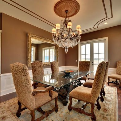 Mediterranean Dining Room Palladian Blue Design Pictures Remodel Decor And Ideas