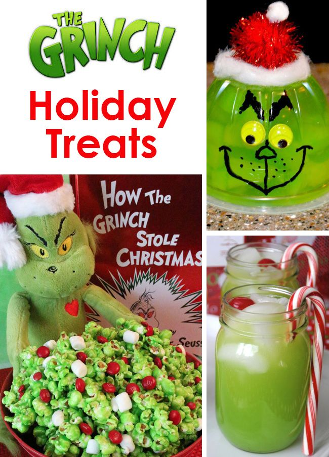Adorable Fun Food Recipe Ideas For Your Next Holiday Christmas Party Grinch Cakes Popcorn Cocktails And Green Themed School