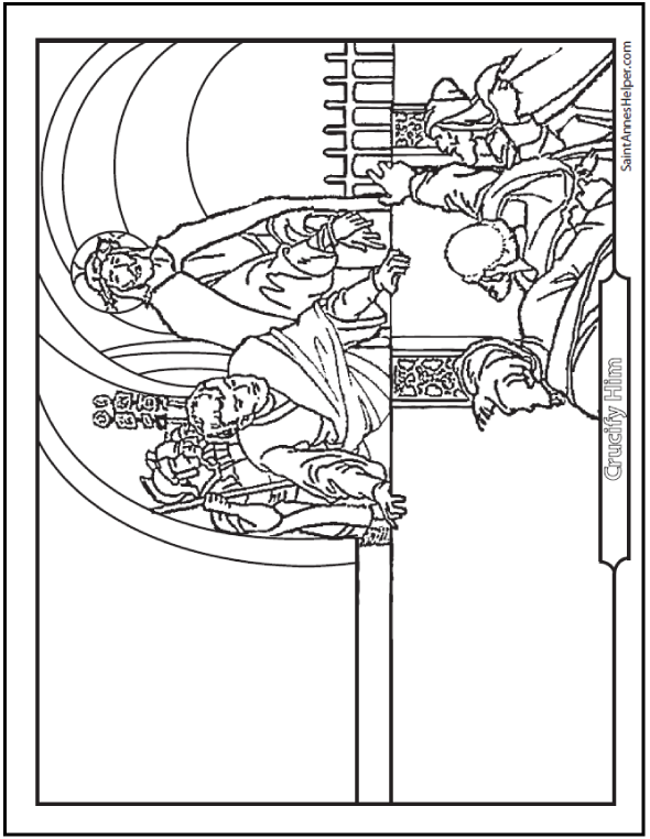 Jesus Is Condemned Coloring Page + + Lent Activities For