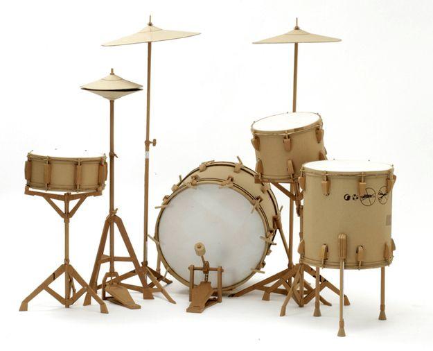 Incredible Cardboard Sculptures Pinterest Drum Sets Drums And