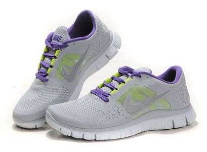 sale retailer fa9d9 b6e8f Nike Free Run +3 Mens Womens Grey Purple  Grey  Womens  Sneakers