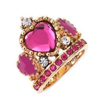 Betsey Johnson ring.