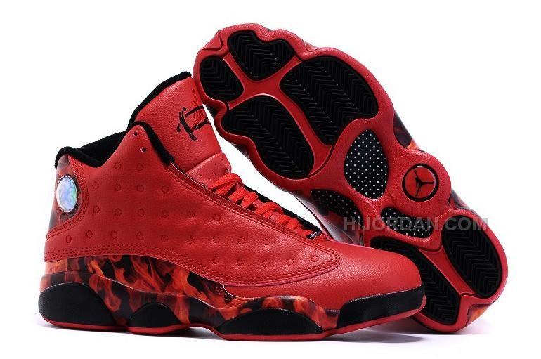 "c9991185725c Air Jordan 13 (XIII) Ray Allen ""Miami Heat"" Custom Red-Black in 2019 ..."