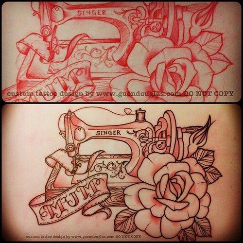 Pin By Dawn Shipe On Ink Tattoo Tattoos Sewing Tattoos Sewing