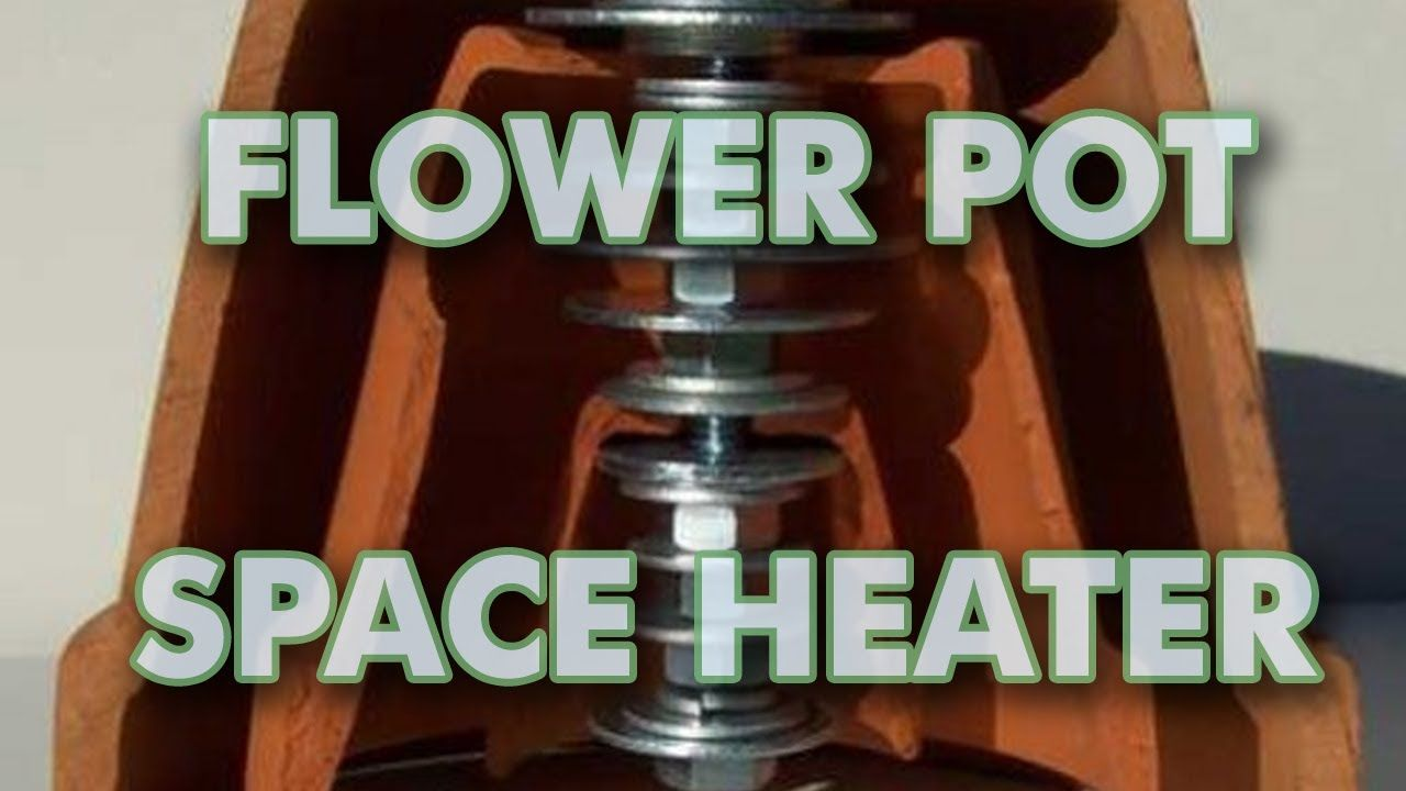 Heater Candle Powered Pot Flower