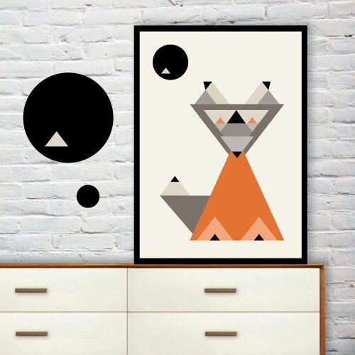Simple graphic fox print.