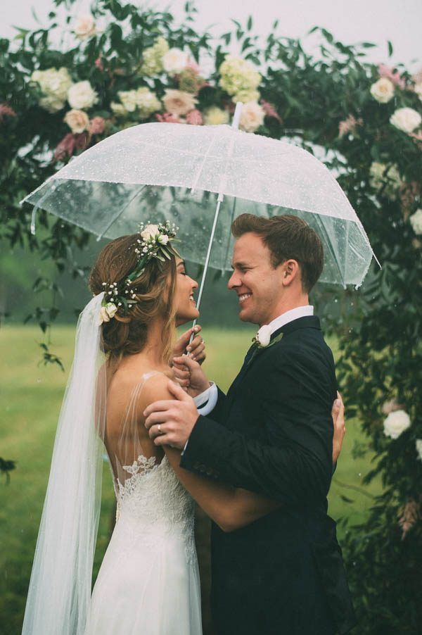 This Rainy Wedding Day At Castleton Farms Is Too Pretty For Words