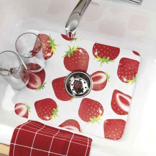 Strawberry Sink Mat & Strainer