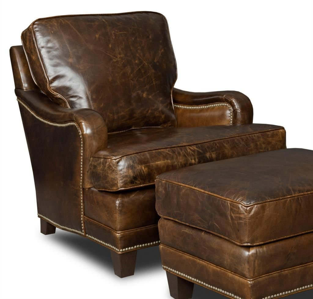 LeatherShoppes - Hooker-CC403 Leather Club Chair and Ottoman, $1,499.00 (http://leathershoppes.com/hooker-cc403-leather-club-chair-and-ottoman.html)