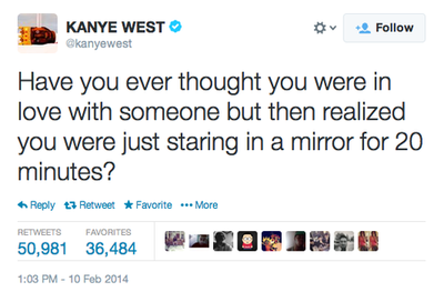 Self Love To The Max Kanye West Quotes Tweet Quotes Mood Quotes