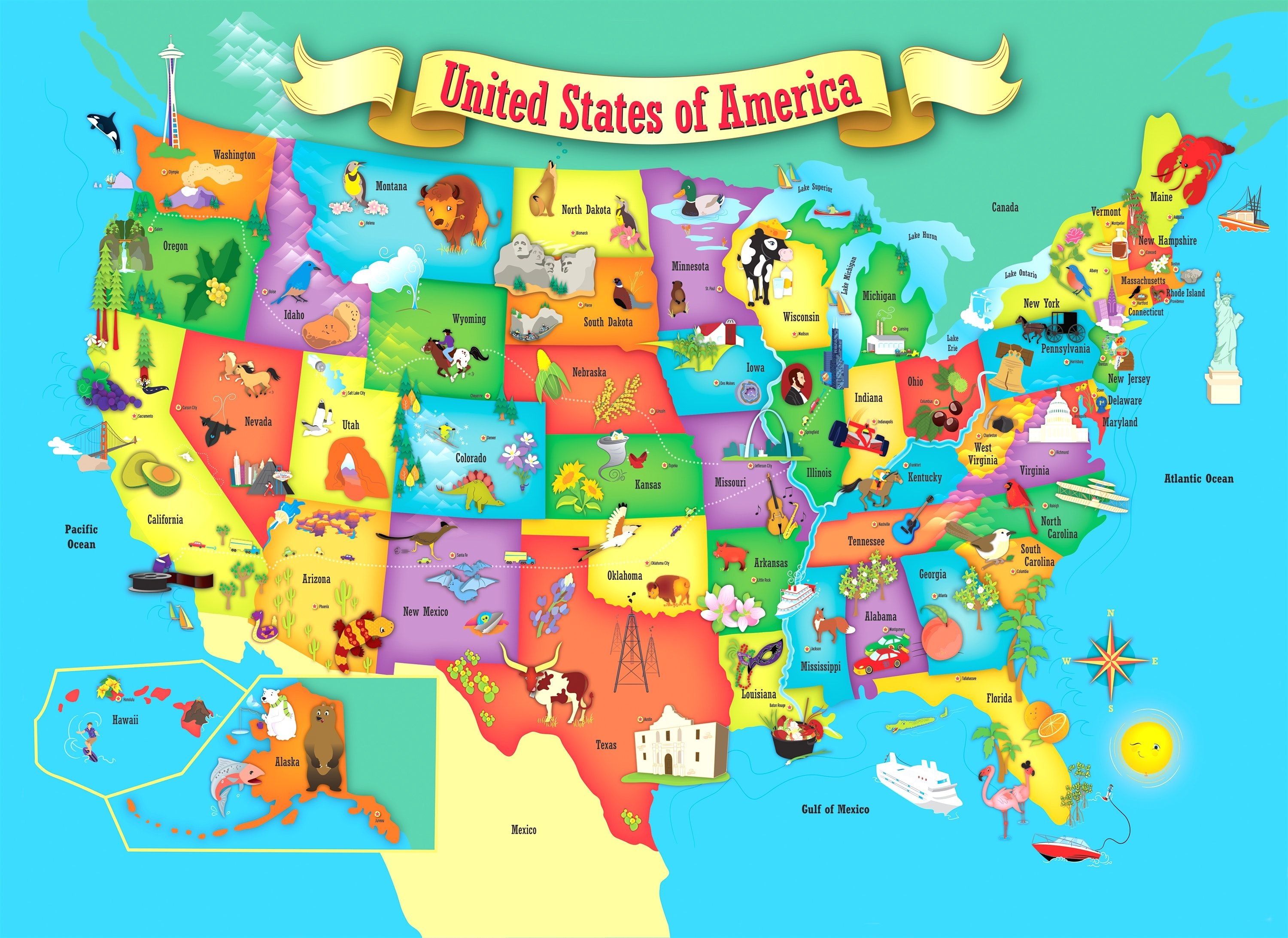 Us Map Puzzle For Kids Printable Map Of The US Mark The States Ive Visited Craft USA