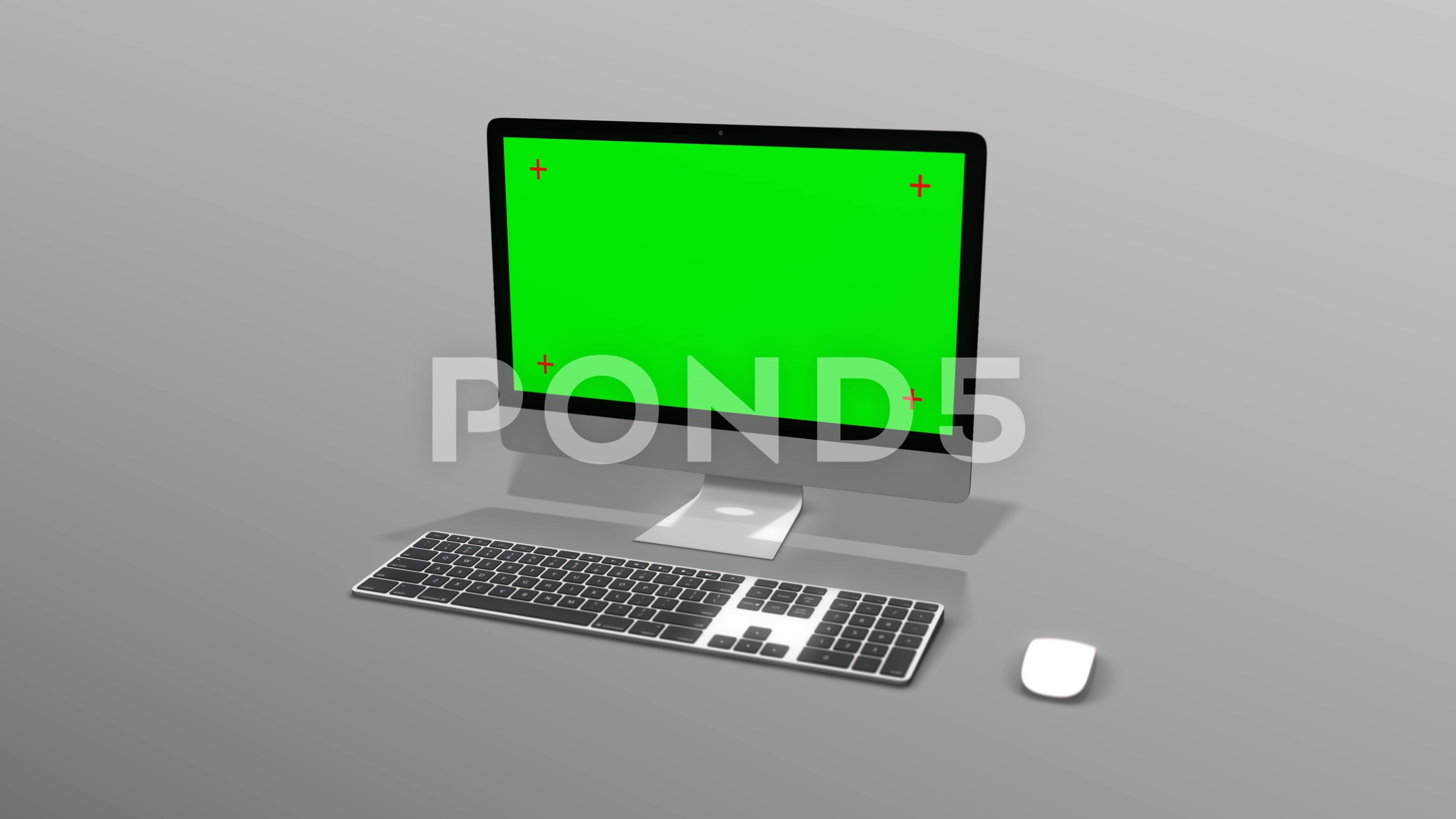 3d Desktop Computer With A Green Screen On A Solid White Background Stock Footage Ad Green Screen Desktop Computer Greenscreen Desktop Computers Computer
