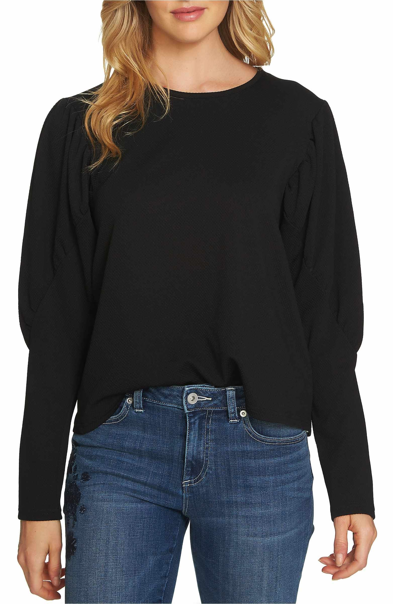 CeCe Puffed Shoulder Top | Puffy shoulder, Casual tops, Top