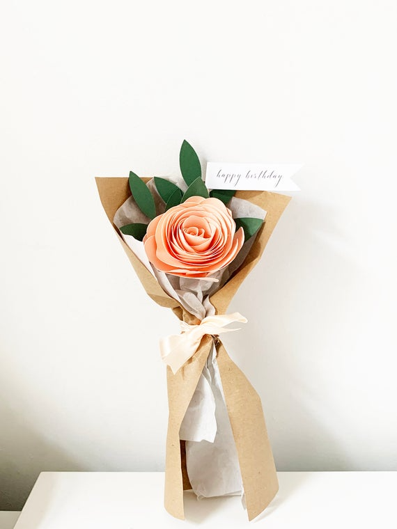Romantic paper flower bouquet lush paper flowers that will last forever