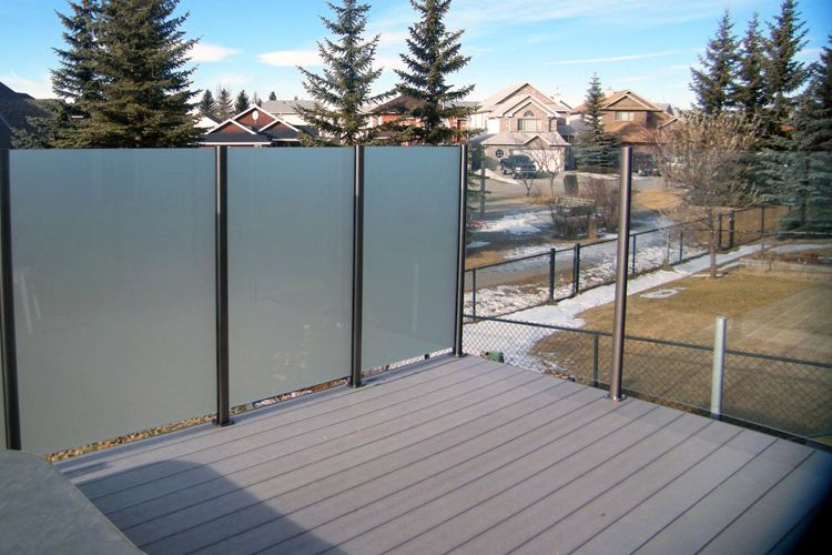 Image result for privacy screen with glass railing on deck