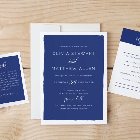 Free Invitation Card Templates For Word Custom Instant Download Printable Wedding Invitation Template  Signature .