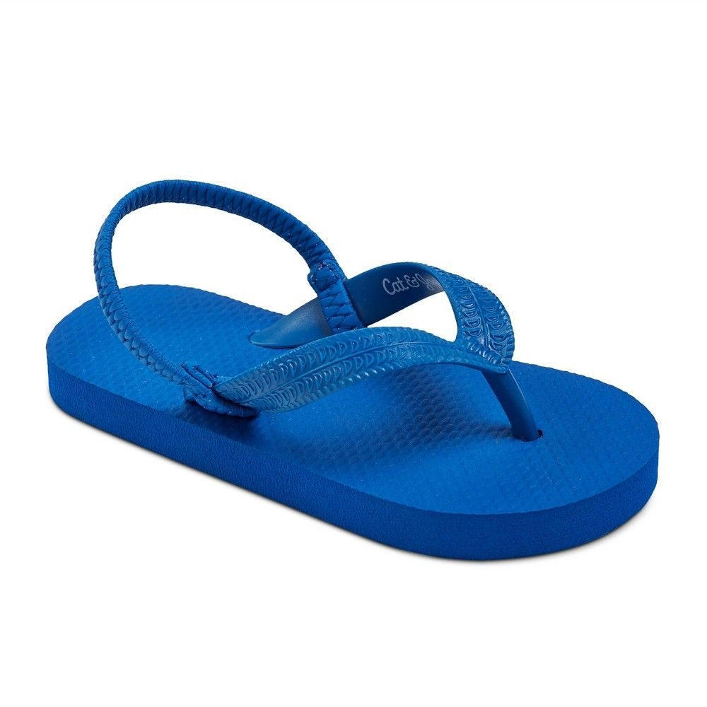 bfdb1f4b4c72db Toddler Boys  Dax Flip Flop Sandals Cat   Jack - Blue L