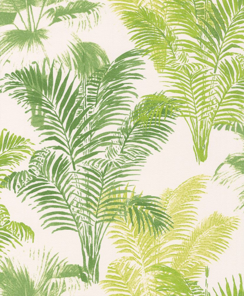 A stunning and bold jungle fern design in various shades of green which is sure to make a statement in any room!