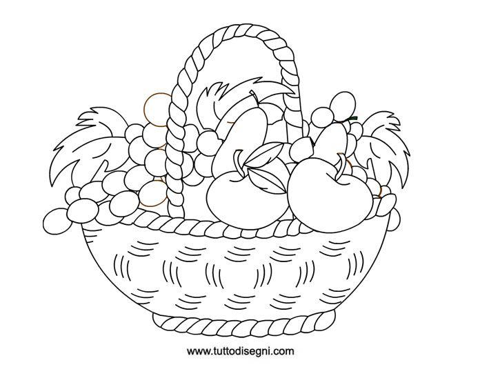 cesto-con-frutta-da-colorare | Fruits-Lgumes-Arbres ...