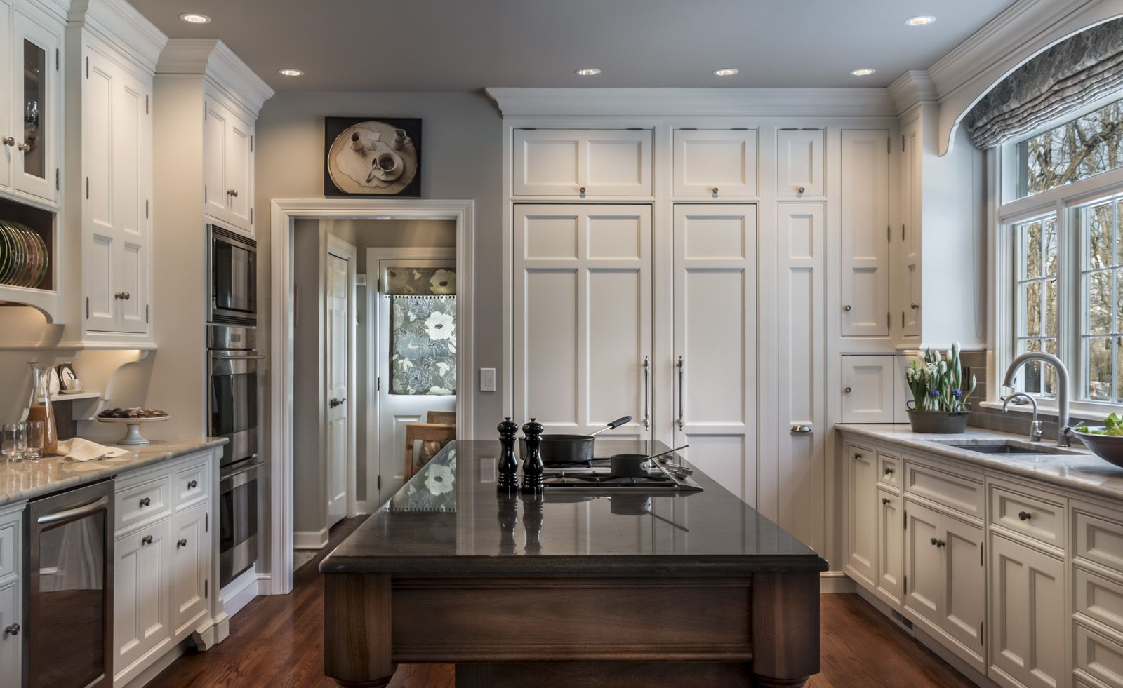 This traditional kitchen is a visual work of art amid the ordinary ...